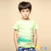 Azio 男童 上衣 小魚鱷魚印花純色短袖T恤(綠) Azio Kids 美國派 童裝