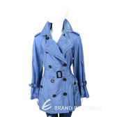 BURBERRY 藍色皺褶細節塔夫綢防雨風衣 1730415-23