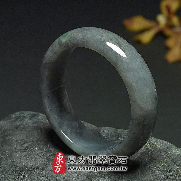 烏雞種A貨翡翠玉鐲(黑翡翠,灰色,圓鐲18.5)BG007。嚴選翡翠,可訂製珠寶。附A貨翡翠雙證書