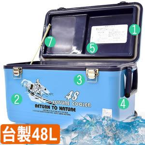 行動冰箱攜帶式冰桶釣魚冰桶保冰桶冰筒戶外用品台灣製造48L冰桶48公升冰桶便宜推薦哪裡買ptt