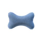 純棉舒壓骨頭枕-藍