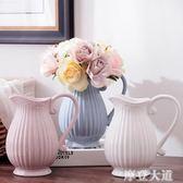 法式簡約白藍灰粉色陶瓷花瓶花器插花花藝器皿家居軟裝飾擺件『摩登大道』