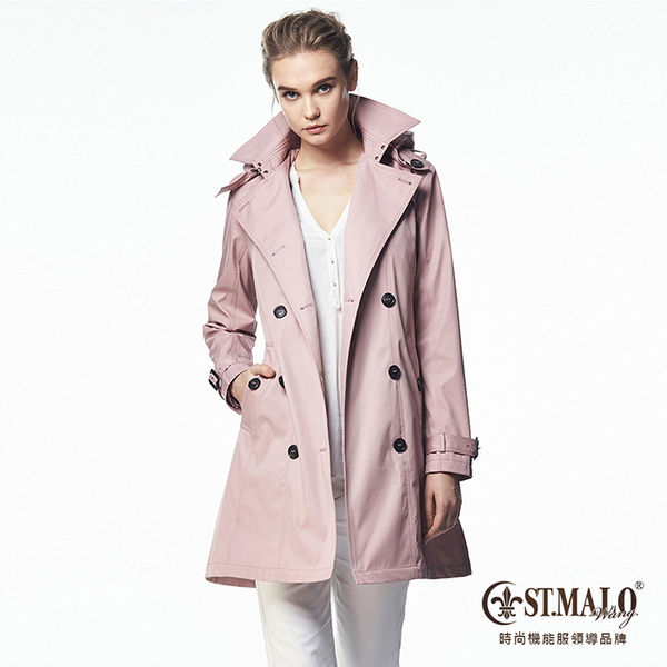 【ST.MALO】歐美經典高機能蓄暖風衣-1665WC-冰晶粉