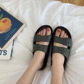 韓版情侶外穿休閒百搭雙帶拖鞋女夏學生原宿chic風涼鞋男  9號潮人館