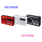旺德 USB/MP3/FM 隨身音響  WS-P006  (三色可選) ◆可播放MP3音樂及FM收音機 ☆6期0利率↘☆