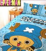 LUST寢具 【航海王/喬巴超人-藍】雙人薄被套6X7尺、日本卡通授權、台灣製