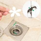 ✭米菈生活館✭【M032】小花水管道疏通器 地漏 清潔 鉤條 毛髮 浴室 洗手檯 清除 頭髮 掛勾 鏈條