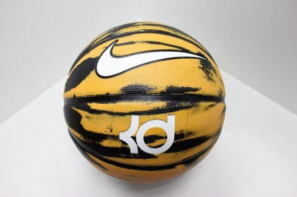 NIKE KD X 籃球 戶外 7號 軟像膠 黃 黑【運動世界】BB0615-822