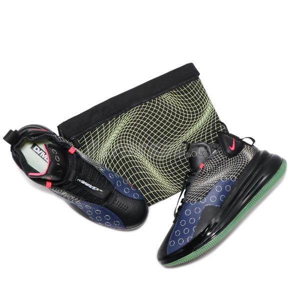【US9.5-NG出清】Nike 休閒鞋 Air Max 720 Waves 左腳鞋面破損 黑 藍 男鞋 運動鞋 D/MS/X【ACS】