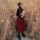 背帶裙秋冬2020年潮網紅背帶連身裙子初秋大碼女裝裝洋氣胖mm新品