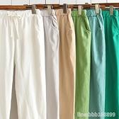 棉麻褲 休閒棉麻褲九分男春夏新款韓版哈倫褲亞麻褲子寬鬆顯瘦帥氣潮 瑪麗蘇