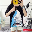 韓版寬鬆印花短袖T恤 M-2XL O-ker歐珂兒 16611