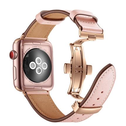 iwatch錶帶真皮apple watch蘋果手錶帶男女潮【步行者戶外生活館】