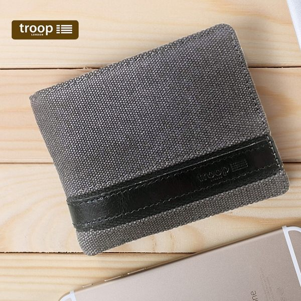 【TROOP】經典品格CLASSIC錢包/TRP0452BK(黑色)