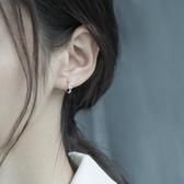 S925銀耳釘2019新款潮耳環女設計感冷淡風小眾圓圈耳扣百搭氣質