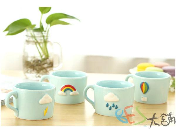 雜貨│杯子│今天天氣晴小小咖啡杯/4款選@多雲打雷彩虹熱氣球下雨下午茶雜貨ZAKKA