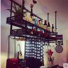 酒吧酒杯架創意紅酒杯架倒掛紅酒架歐式高腳杯架懸掛酒架掛杯架 雙層長150寬31