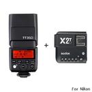 ◎相機專家◎ Godox 神牛 TT350N + X2T 發射器 機頂閃光燈 Nikon 送柔光罩 開年公司貨