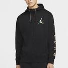 NIKE Jordan Sport DNA 男裝 外套 連帽 針織 休閒 口袋 印花 黑【運動世界】CZ5429-010