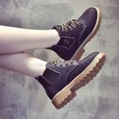 秋冬馬丁靴女英倫風正韓百搭加絨靴子女切爾西短靴女鞋子
