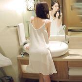 【年終】全館大促性感睡衣女雪紡睡裙吊帶舒適家居服正韓短裙新款雙層微透視