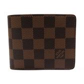 LOUIS VUITTON LV 路易威登 棕色棋盤格二折短夾 Slender Wallet N61208 【BRAND OFF】