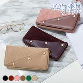 長夾 11:11麂皮x皮革鉚釘長夾-Joanna Shop