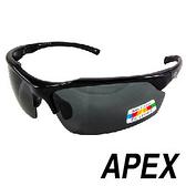 APEX J91偏光眼鏡-黑 (可加裝近視內框) 戶外 自行車 跑步