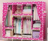 衣柜實木布藝牛津布簡易衣柜簡約現代經濟型布衣柜單人組裝木柜子igo  瑪奇哈朵