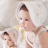 簍空蕾絲花朵遮陽帽 帽子 盆帽 圓帽 防曬帽 橘魔法 兒童 嬰兒 小童 花童 公主 周歲拍照 滿月