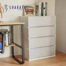 收納櫃 韓國製 置物櫃 衣櫃 塑膠櫃 【G0012】韓國SHABATH Pure極簡主義收納四層櫃60CM(灰色) 收納專科
