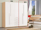 【森可家居】明日香2.64尺雙吊衣櫃(單只-編號3) 7ZX151-12 衣櫥 白色 木紋 無印風 北歐風 衣物收納