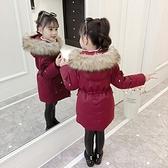 女童棉衣冬裝網紅新款洋氣兒童羽絨棉服襖寶寶中長款外套加厚 聖誕節全館免運