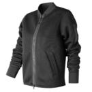 NEW BALANCE 女裝 外套 立領 棒球外套 休閒 網眼 鏤空 透氣 黑【運動世界】WJ71571BK
