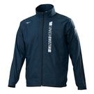 MIZUNO 男裝 外套 套裝 立領 夾克 防風 防潑水 刷毛 保暖 拉鍊口袋 深丈青【運動世界】32TE158214