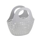 提手籃SG679 十字架軟體沐浴籃子收納籃洗澡塑料洗漱籃收納筐洗澡籃