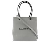 【BALENCIAGA】North South 牛皮二用購物包(XXS)(灰色) 597858 0AI2N 1160