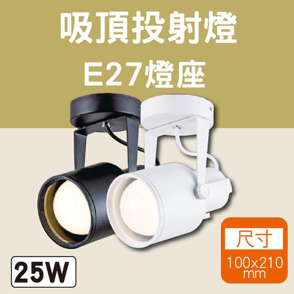 吸頂投射燈 LED燈泡 25W LED E27軌道燈 全電壓 尺寸10X21公分【奇亮科技】含稅