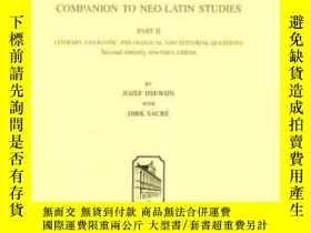 二手書博民逛書店Companion罕見To Neo-latin StudiesY