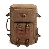 後背包-帆布可背可提多功能旅行男雙肩包3色73re3[時尚巴黎]
