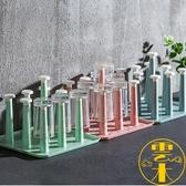 2個裝 杯子架晾杯架置物玻璃托盤放茶杯咖啡掛架收納【雲木雜貨】
