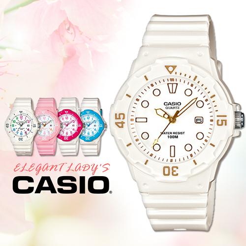 CASIO手錶專賣店 卡西歐 LRW-200H-7E2 兒童錶 運動 防水100米 膠質錶帶 可旋轉錶圈 日期顯示