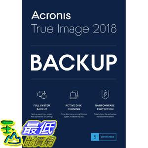 [7美國直購] 2018 amazon 亞馬遜暢銷軟體 Acronis True Image 2018-5 Computer Backup Software
