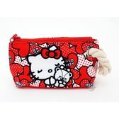 三麗鷗凱蒂貓 Hello Kitty 40週年紀念版 (愛心)帆布手拿包