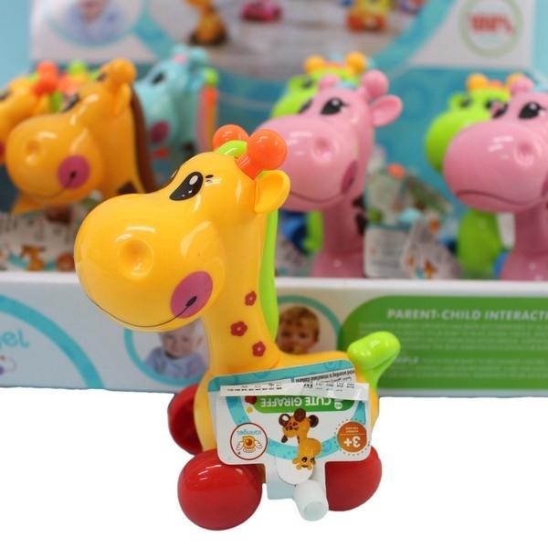 發條長頸鹿 632 發條搖頭可愛長頸鹿/一個入{促60} Q版長頸鹿玩具 真環保.不必用電池喔~生