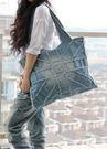 熱銷歐美 英倫風 時尚米字復古 牛仔布包...