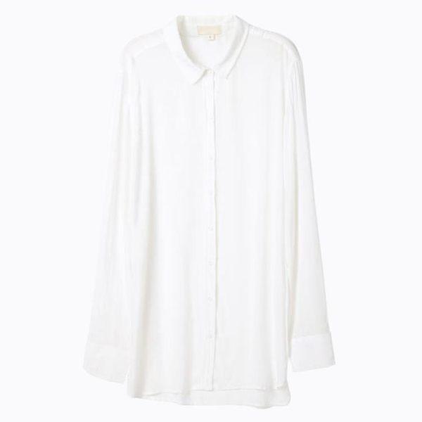 未滿性感睡衣長袖睡裙女秋家居服夏大碼長款白襯衫情趣老公裙超薄  巴黎街頭