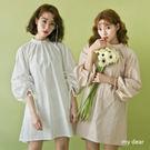 MD韓-後開釦縮袖洋裝-2色【02040774】