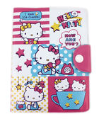 【卡漫城】 Hello Kitty 生活 星星 防水 護照套 ㊣版 證件套 可扣式 卡片套 收納本 萬用 卡包 輕量