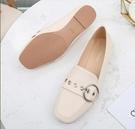 網紅單鞋平底新款百搭英倫風小皮鞋女豆豆鞋